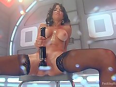 Veronica Avluv squirts everywhere in the hottest scene ever