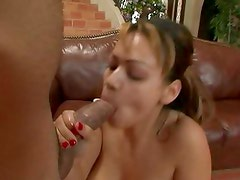 One stud with the best dick ever gets blown by sexy Honey Dejour
