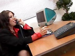 Working bitch gets a working stiff's cock and Daphne Rosen loves it