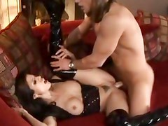 Tempting babe Shy Love gets her moist pussy pummelled