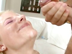 Sex fiend Haley Cummings bends over to take a cock deep in her snatch
