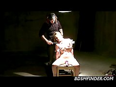 Blonde Tied To A Chair Whipped Shocked And To