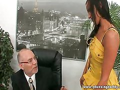 Chanel white fuck her mature boss