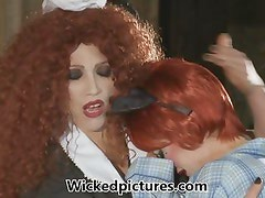 Jessica Drake is drilled by a hot horny transvestite