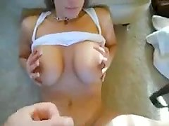 Big boobs milf sucks the cock very well