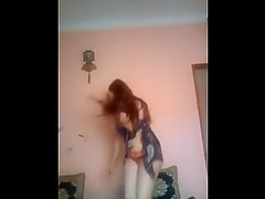 sexy egyptian cute girl dancing in hot dress