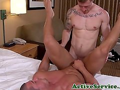 Muscled marines asshole pounded raw