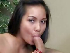 Lana Violet wraps her moist lips around this hard cock