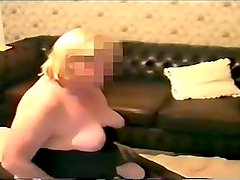 Blonde BBW cheating on her husband with a BBC
