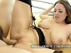 Busty Angela White Fucks a Big Cock and Squirts