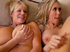 BRANDI & KELLY Big Tit Fucking and cock sharing