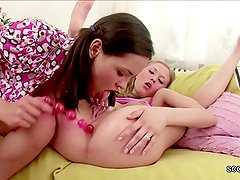 Two Skinny Teens Found Mom SexToys and Play