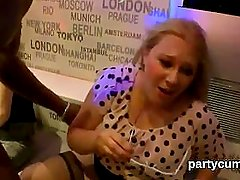 Horny cuties get absolutely fierce and undressed at hardcore party