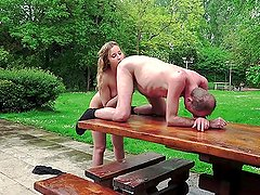 Young Russian Blonde Lick the Ass of an Old B