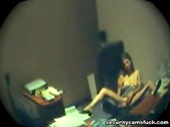 Horny Boss Has Some Solo Time In The Office