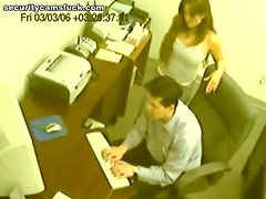 Office Handjob From A Horny And Sexy Co-ed