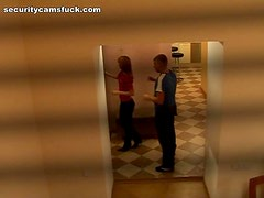 Corridor Action With A horny Couple In A Voyeur Clip