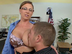 Horny School Teacher Devon Lee Getting Fucked By One Of Her Horny Students