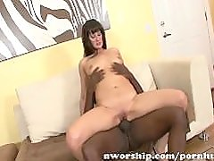 big black cock for an hot brunette milf mom hungry for interracial sex