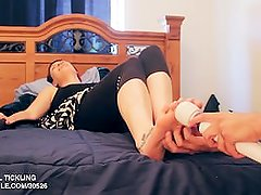 Amo Morbia feet tickled with an hitachi