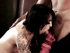 Sizzling babe drools over this hard throbbing cock
