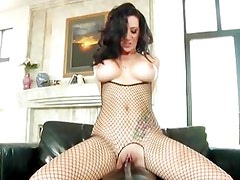 Jayden James bounces her pussy on this thick shaft