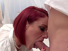 LaCochonne - French Anal slut redhead ends up swallowing cum