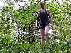 P737 redbube leather shorts dressed men in black latex forest 7c8a1 Mann