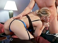 Madison Ivy polish long and hard rod by her hands