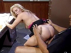 Blonde humping law inforcement dick