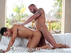 Derek Parkers big dick fucks a load out of Bobby Hart