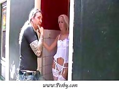 Blonde hooker riding a Russian tourist
