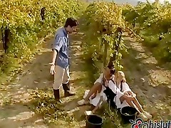 Alissa and Julia Crow were working the vineyards
