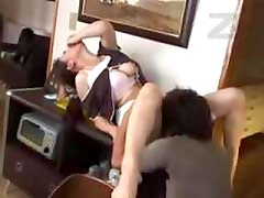 Aunt Fucked In A Kitchen While Uncle Is In A Livingroom