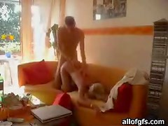 Horny Couple Get Their Freak On While Being Alone In The House