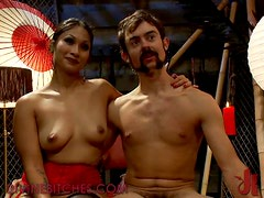 Asian Dominatrix gets her Whip Out