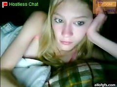Webcam Blondie Chatting from Her Cozy and Warm Bed