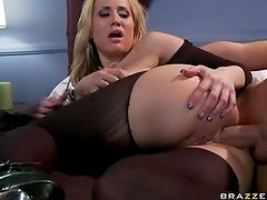 Alanah Rae Lusty Blond Have Bum Fuck On Couch