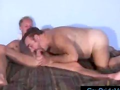 Oso - Blonde twink getting his dick sucked by old gay bear by gaypridevault