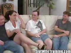 Wife Holly gets Gangbanged on her Training