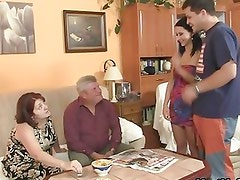 Pervertido - His GF seduced by perverted parents