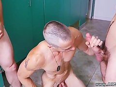 Naked army guys pissing and fooling around