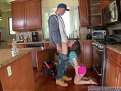Big tits handjob brother The Plumber gets