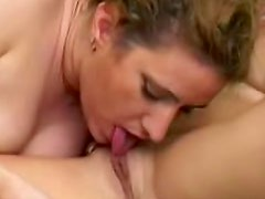 Curvy girl on girl sex with toys