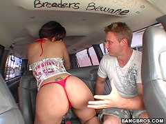 Horny Latina Finds Anal Pleasure On In The Bang Bus