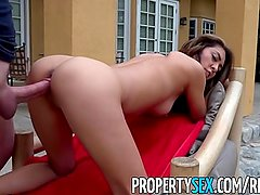 PropertySex - Fucking incompetent real estate agent in backyard