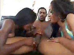 Threesome and a black deep Ass