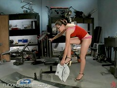 Petite Babes In Glasses Getting Drilled By a Fucking Machine