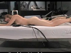 Hot Babe with Sexy Ass Taking a Fucking Machine Up Her Wet Pussy