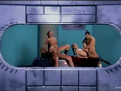 Double Penetrating Foursome With The Hot Babes Tera Bond And Victoria Swinger